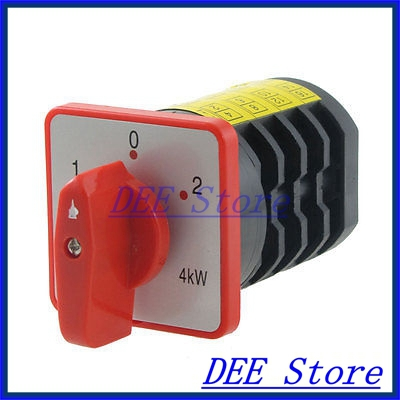 4kW AC 380V 20A 16 Screw Terminals 3 Position Universal Cam Switch<br><br>Aliexpress