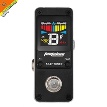 AROMA Mini Guitar Tuner Efect Pedal Guitar Tuner Guitarra Tuning Stompbox High sensitivity precision metal shell HD display