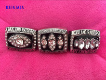 BIFAJAJA Drop Shipping NEW OAKLAND RAIDERS SET 1976/1983/2002 AMERICA FOOTBALL CHAMPIONSHIP RING SZIE 11 3PCS/SET(China)