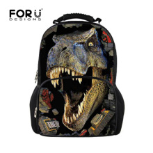 Cool Printing Dinosaur Backpack for School Boys Unique Men's Crazy Horse Backpack High School Children Laptop Bagpacks