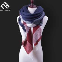 New Winter Scarf For Women Tartan Scarf Women Plaid Blanket Scarf 140cm*140cm*210cm Large Brand Shawl Female Winter Shawls Wraps
