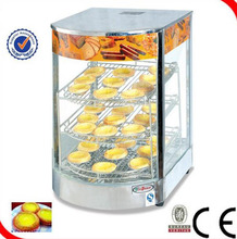 Free shipping 220v pie warmer/mini food warmer/hot food display case Three layer racks Electric Pizza rotating warmer cabinet(China)