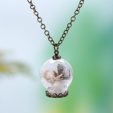 2017 Popular Accessories Small Fresh Forest Necklace Ocean Drift Bottle Necklace Drop Shipping(China)