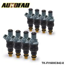 AUTOFAB-8PCS/LOT New Performance Low Impedance 1600cc 160LB EV1 Fuel Injectors OEM:0280150842 For Audi Chevy TK-FI1600C842-8