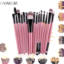 Buy OYAKOM 15pcs/set Eye Shadow Foundation Eyeliner Eyebrow Lip Brush Makeup Brushes Set Tools Cosmetics Kits Beauty Makeup Brush for $1.05 in AliExpress store