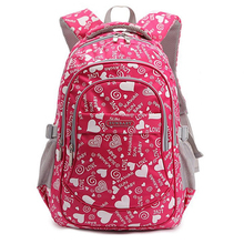 Fashion Girl School Bag Waterproof light Weight Girls Backpack bags printing backpack child