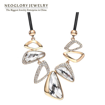 Neoglory Big Crystal Czech Rhinestone Fashion Chain Choker Statement Necklace for Women Bijoux Bib big-name Jewelry 2017 New CN2