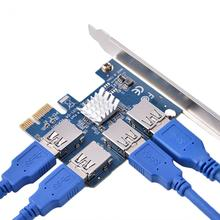 Buy Add Card PCI-E 4 Port PCI-E Extension Card PCI Express Riser Adapter USB3.0 Mining for $34.83 in AliExpress store