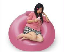 high quality pink cozy inflatable leisure sofa + inflatable beanbag sofa chair with head rest ,cheap price and quick shipping