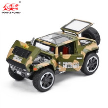 1:32 American military Jeep off-road military vehicle simulation alloy car model toy with sound light Collection Gift toy Boys(China)