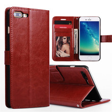 Case For iPhone 7 Case Leather Wallet Luxury Stand Holder Flip Hard PC Cover Capa For iPhone 7 Card Slot Phone Cases Shockproof(China)