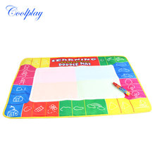 Coolplay 72X49cm 4 clolors  Water drawing board with color box with 1pcs magic pen/t  /Water Mat/aquadoodle mat