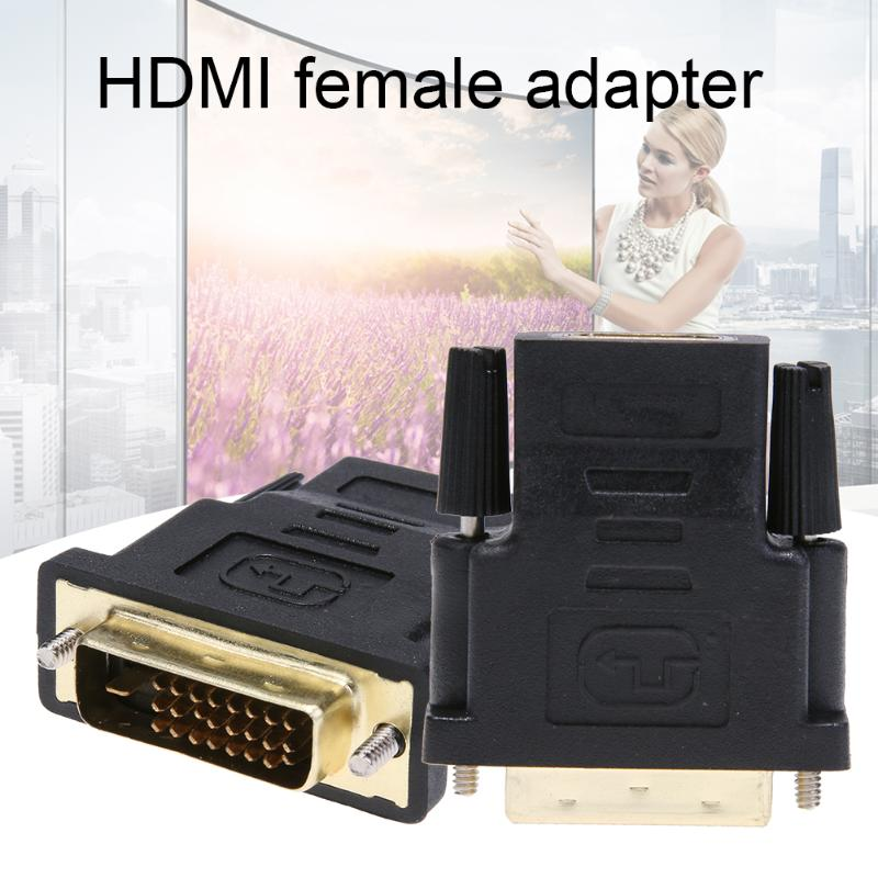 New Arrival HDMI to DVI Converter HDMI Female to DVI 24+1Pin Male Adapter Cable Connector for PC HDTV Monitor Display(China)