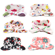 Girls Floral top knot headband Child headwrap Tribal top knot headbands floral prints head wraps Soft and cute one size HB549