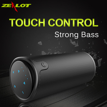 Zealot S8 Portable Wireless Bluetooth Speaker Touch Control Sport Bicycle HiFi Stereo Car Column Subwoofer Support TF Card AUX(China)