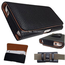 Black  Leather Flip Belt Clip Hip Loop Holster Pouch Cover For Blackview BV7000 Pro Smartphone 4G