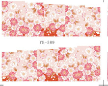 Nail Sticker Water Transfers Stickers Nail Decals FLORAL PLUM FLOWER WINTER BLOSSOM  YB589-600