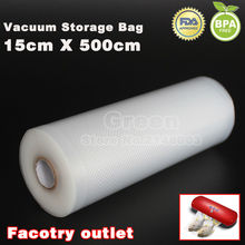 15cm x 500cm 1 Roll Vacuum food bag for kitchen vacuum storage bags packing film keep fresh up to 6x longer(China)