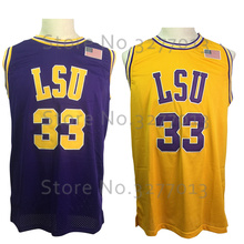2018 LSU Tigers College 33 Shaquille O'neal Jersey Throwback Basketball Jerseys Shaq Oneal Retro Vintage Stitched Shirts for Men(China)