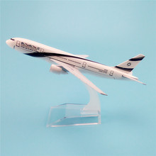 16cm Alloy Metal Air El Al Israel Airlines Plane Model Boeing B777 4X-ECF Airways Airplane Model Aircraft Mode(China)