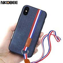 NKOBEE Cover For iphone X Luxury Case Fabric Silicon For iphone X 10 Case Coque For iphoneX i phone X Original Cell Phone 5.8''(China)