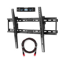 Suptek TV Wall Bracket Mount for Most of 32-70 inch Plasma Flat TV Load Capacity 165lbs 15 Degree Tilt Up Down, Max VESA 600x400