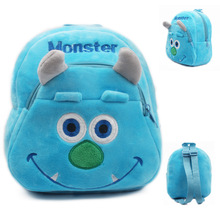 2015 Blue Monster baby bag plush shool bags kids backpack lovely design mini bags for child Best Christmas gift