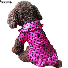 Fashion dot pattern puppy winter clothes winter warm coat for dog short floss keep warm dog puppy vest clothes free shipping