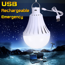 LED Lamp Bulb E27 220V 12W 20W 30W 40W High Power led USB Rechargeable Emergency bombillas LEDs Battery Outdoor Night Lights