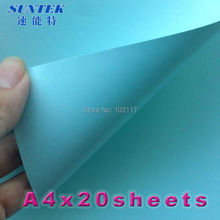 (20pcs/lot)Slide Decal Paper For General Printing Ink with Blue Base 20 Sheets Laser Water transfer Paper