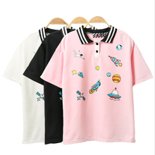 Buy Cute Pink Harajuku Printed T Shirt Kawaii Cartoon Tee Tops 2018 Ladies Fashion Character Kawaii Cute T-shirt Women Clothing for $7.40 in AliExpress store