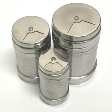 Set of 3 Stainless Steel Multi-Purpose flavor Pot Kitchen Gadgets Spice Bottles rotating seasoning cans -3 different size(China)
