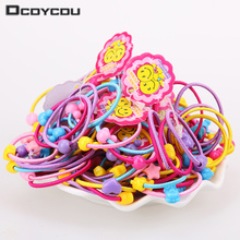 40 Pcs High Quality Carton Round Ball Kids Elastic Hair Bands Elastic Hair Tie Children Rubber Hair Band(China)
