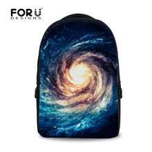 Fashion Men's Travel Galaxy Backpack Boys School Backpacks Gifts Teenager's School Bags Blue Print Kids Rucksack Free Shipping