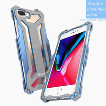 For iphone X R-just GUNDAM Metal Aluminum Phone Cases Climbing Outdoor Armor Anti-Knock protection Cover for iphone 7/8(China)