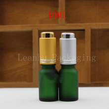 10ML Green Frosted Glass Dropper Bottle, 10CC Essential Oil/Perfume Packaging Bottle, Empty Cosmetic Container