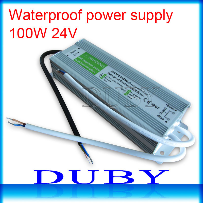 10piece/lot IP67 24V 4.16A 100W AC100-240V Input Electronic Waterproof Led Power Supply/ Led Adapter 24V 100W free fedex<br>
