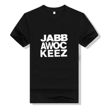 2017 Men Jabbawockeez letter t shirt Hip Hop Short-sleeve T-shirts o-neck S-3XL free shipping White Black