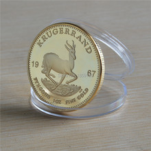 1967 KRUGERRAND SOUTH AFRICA GOLD COIN BULLION PAUL KRUGGER 1pcs/lot Free shipping(China)