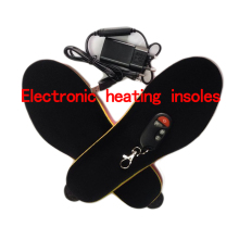 "Electronic Heating Insoles Winter ""women Shoes Boots Pad Wireless Remote Control with 'Powered black red Size 35-40 # 1800 mah"