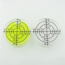 (4 Pieces/Lot) 32*7mm Plastic Bullseye Bubble level Round Level Bubble Accessories for measuring instrument(China)