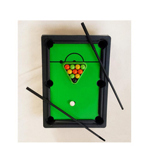 One Set Simulation Kids Mini Snooker Billiards Table Game Easy To Assemble Creative Toy for Children Christmas Birthday Gifts