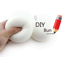 Squishy DIY Bread Bun Toy - Handmade Jumbo Slow Rising Chinese Bun Kawaii Soft Cute Hand Pillow Toy Hand Wirst Stress Toy