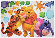 Cartoon Winne The Pooh&Tiger Wall Decal Sticker Home Decor Removable Vinyl Wall decals Baby Kids Nursery poster Decoration
