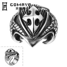316L stainless steel ring for men skull punk rock of the Rings Halloween Unisex Jewelry Vintage big ring ornaments(China)