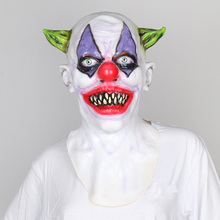 Rubber Latex scary Clown Mask Horror mask face Halloween Masquerade Costume Party Cosplay prop Fancy Dress Festive party supplie(China)