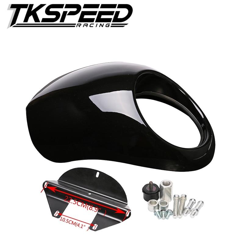 Free shipping Black Headlight Plastic Front Visor Fairing Cool Mask Bezel For 883 XL1200 Dyna Sportster FX Motorcycle<br>
