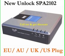 New Unlocked Linksys SPA2102 VoIP Router Voice adapter with router VoIP free shipping(China)