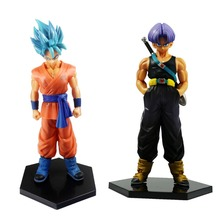 2pcs Dragon Ball Z DBZ Figures Set SON GOKOU + TRUNKS Action Figure Toy Loose APL011104