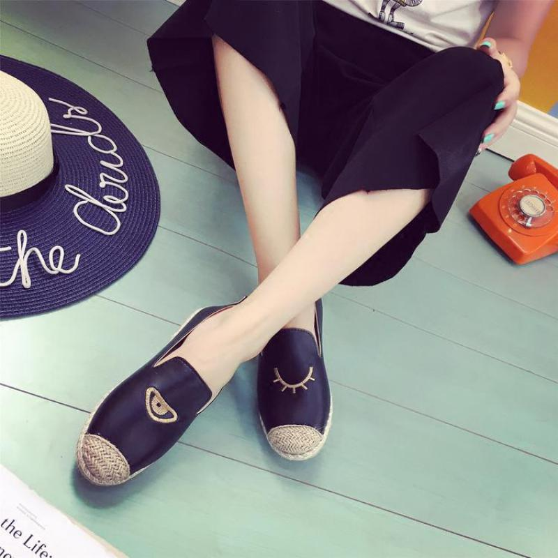 Woven Fishmen Flat Loafers Footwear Woman Black White Casual Slip on Sapatos Femme Pattern Print New Brand Women Shoes Zapatos<br><br>Aliexpress